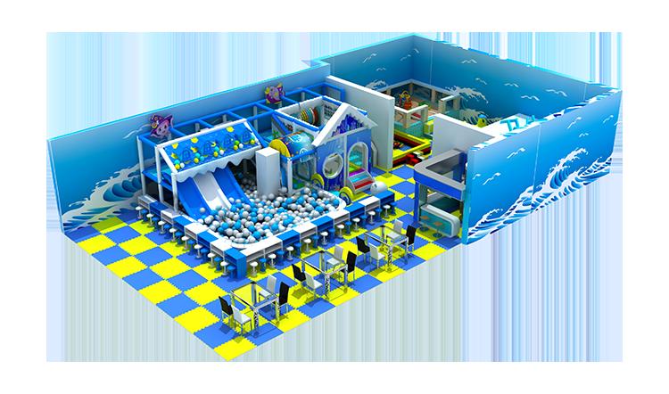 Ocean theme commercial plastic children indoor playground custom