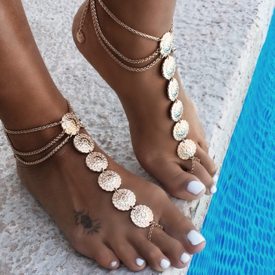 MSYO brand hot sale Europe and US fashion anklets for women silver anklets design body jewelry