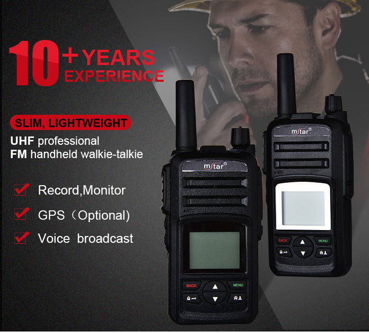 Mstar M308 WCDMA Network Walkie Talkie With SIM Card PC Management Platform Walkie Talkie GPS Navigation
