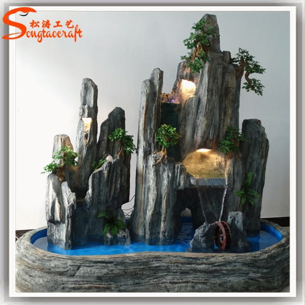factory price indoor artificial water fountain for home decoration - Fountain For Home Decoration