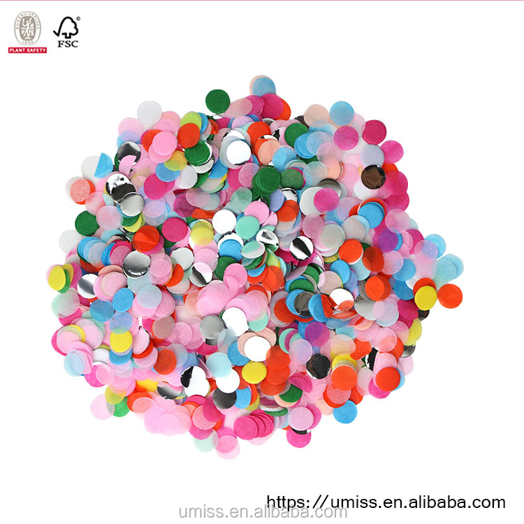 Umiss Wholesale Colorful 2500pcs,10g ,2.5cm Confetti for Confetti Cannon,Balloon