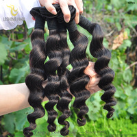 Korea Glue Double Wefted No Shedding cuticle intact virgin remy hair weave