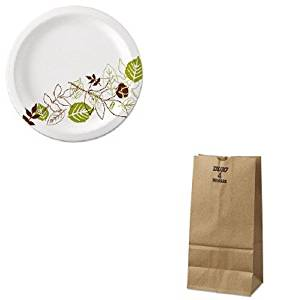 KITBAGGX4500DXEUX9WSPK - Value Kit - 4# Natural Extra Heavy Duty Paper Bag 500/Bundle (BAGGX4500) and Dixie Pathways Mediumweight Paper Plates (DXEUX9WSPK)