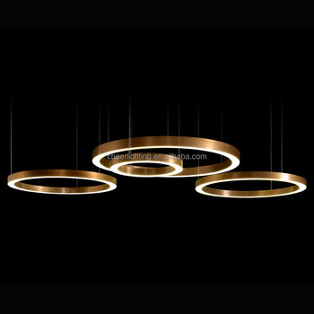 Modern Light Ring Horizontal Led Hotel Lobby Villa Project Lighting Henge