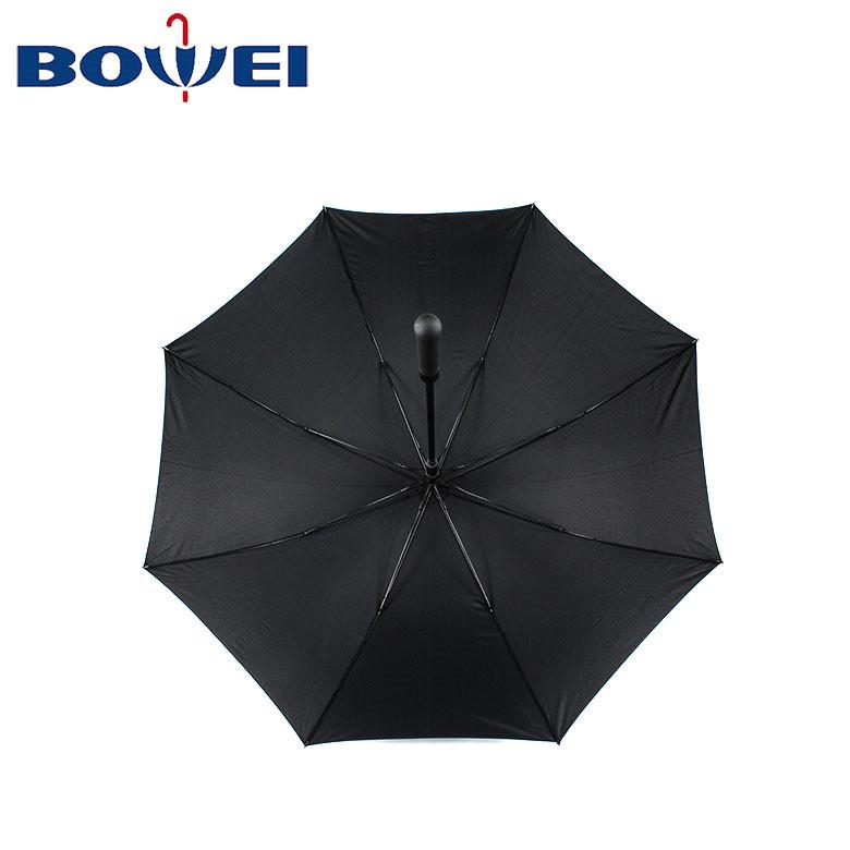 Hot selling classic design long handle custom golf umbrella with logo printing