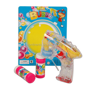 Transparent Automatic Bubble Gun With Music and Light