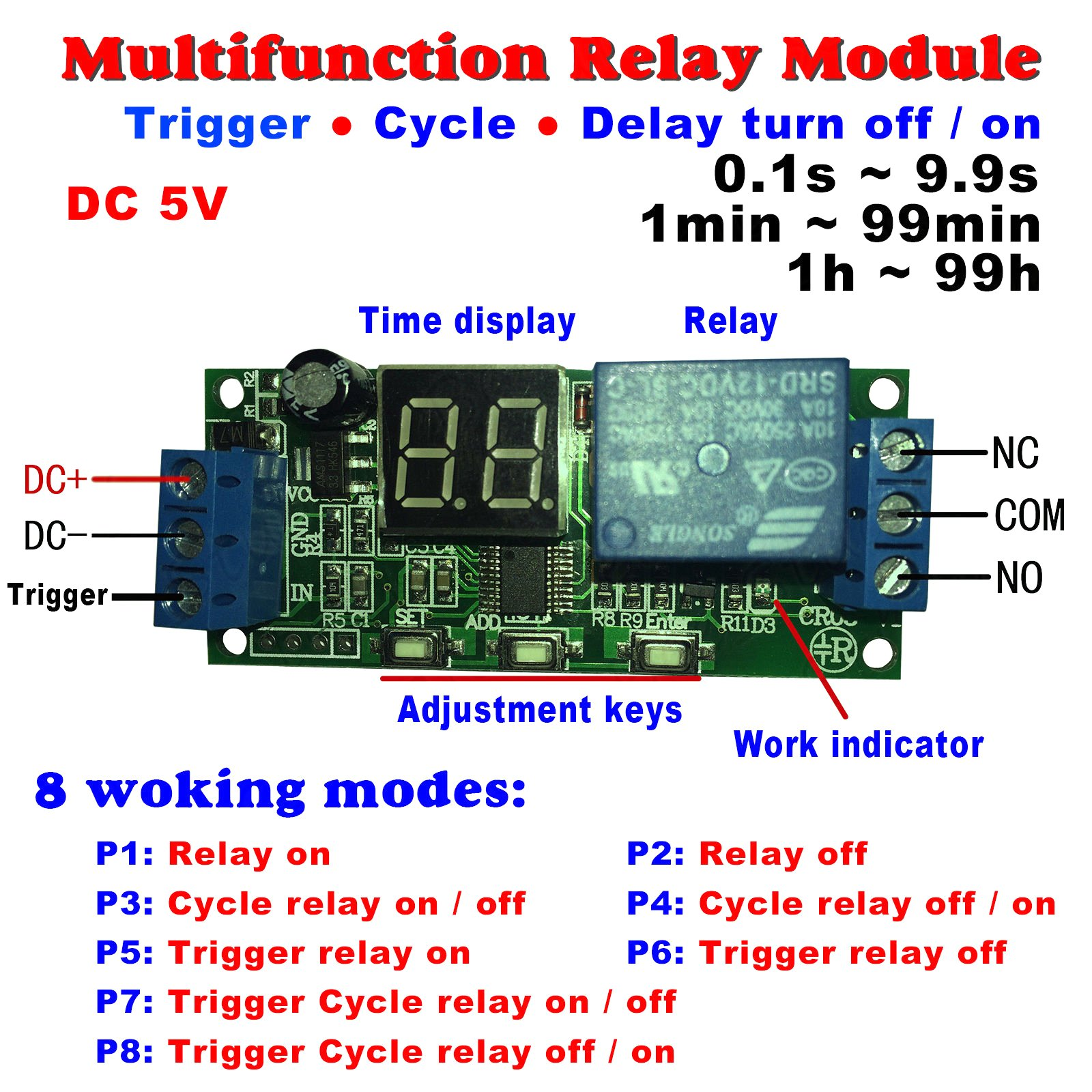 Buy Qianson Dc 5v 12v 24v Digital Led Display Infinite