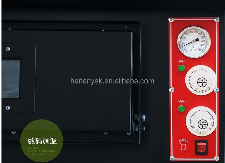 400c Commercial  electric / GAS Black 1 or 2 layer pizza baking Oven Professional bakery equipment for sale