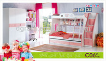 2013 popuplar kids bedroom set is made by E1 MDF board with painting