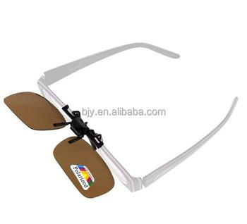 8cfb6acdd94 Black Yellow Green Brown Polarized Sunglasses Clip on Eyewear Myopia For Fishing  Driving Traveling Flip Up