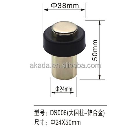 rubber door stop holder wall floor mount door stopper with wedge screws