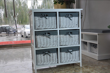 wicker chest of drawer storage unit white wood furniture bathroom cabinet: white storage unit wicker