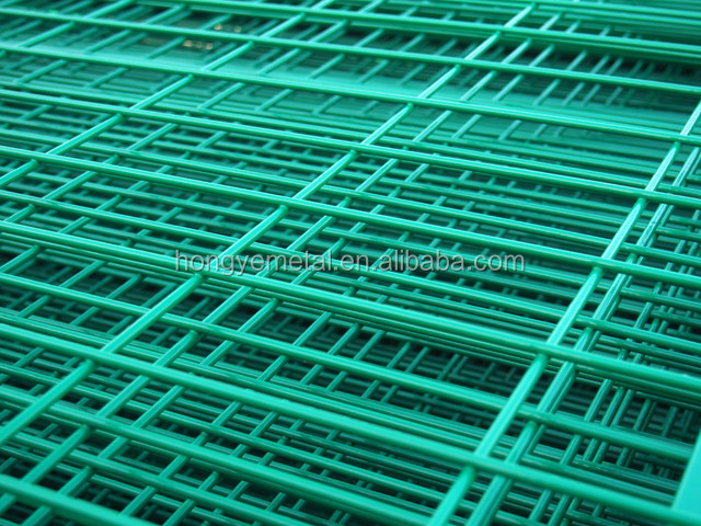 Green vinyl coated welded wire mesh fence panel in 6 gauge welded green vinyl coated welded wire mesh fence panel in 6 gauge welded wire mesh size chart greentooth Images