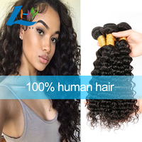 Alibaba Best Seller Unprocessed Grade 7A Virgin Deep Wave Hair Raw Indian Hair With Free Hair Growth Samples