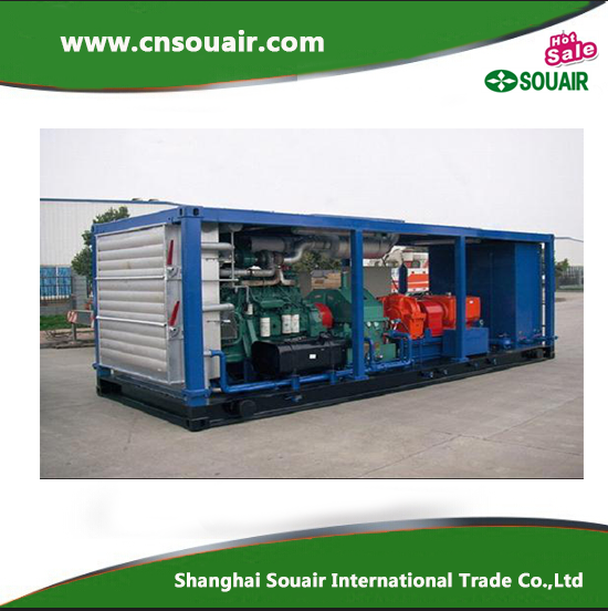 Single stage Oil inject 6m3/min 0.35Mpa associated gas screw compressor