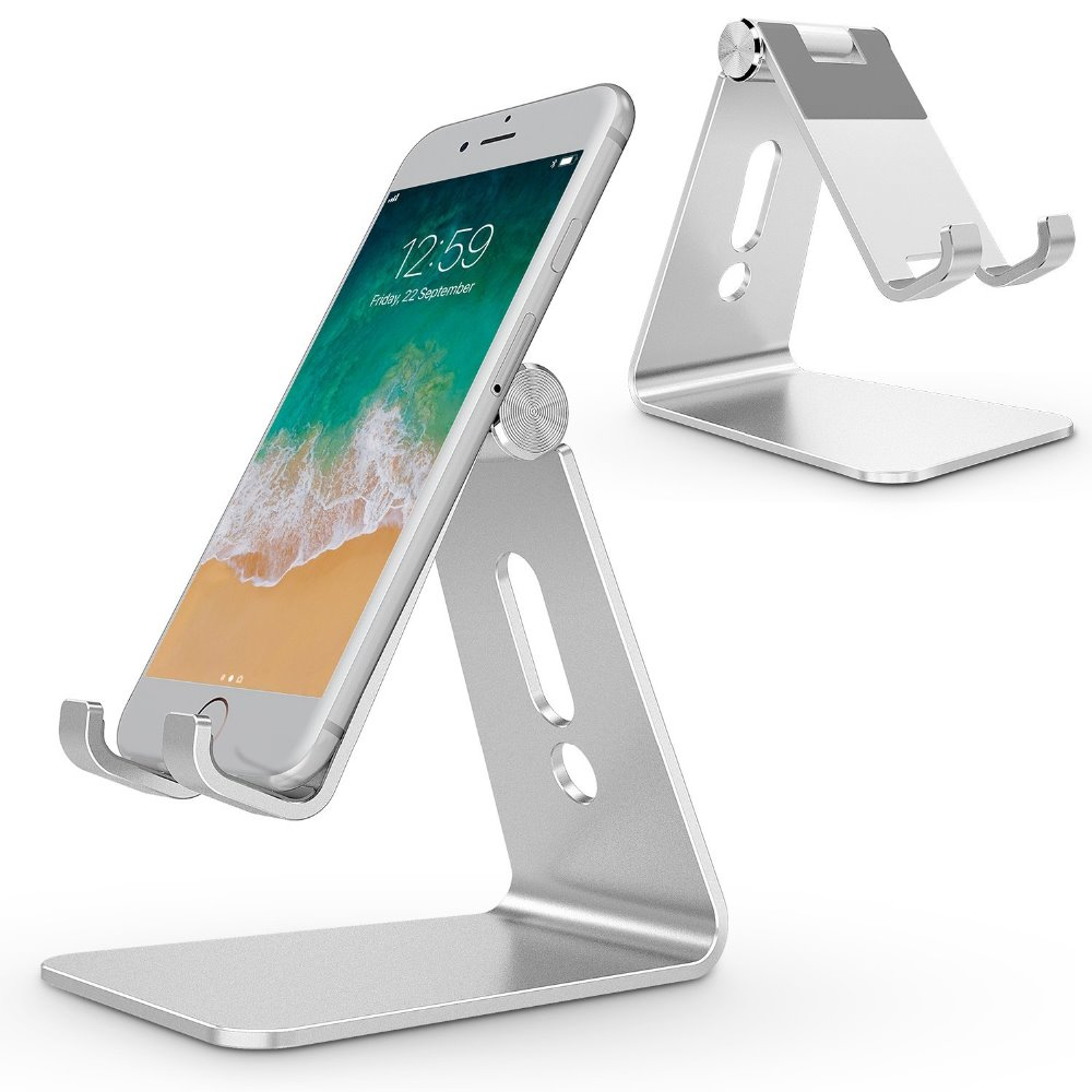 Adjustable Cell Phone Stand Aluminum Stand Holder for Mobile Phone and TabletTablet