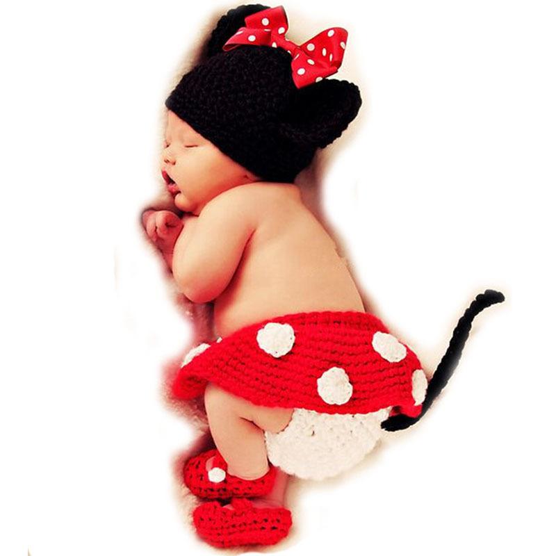1d05233b115 Get Quotations · Kawaii Crochet Baby Photography Props Handmade Knitted  Newborn Photos Hat Shoes Skirt Kids Cap Girls Cute