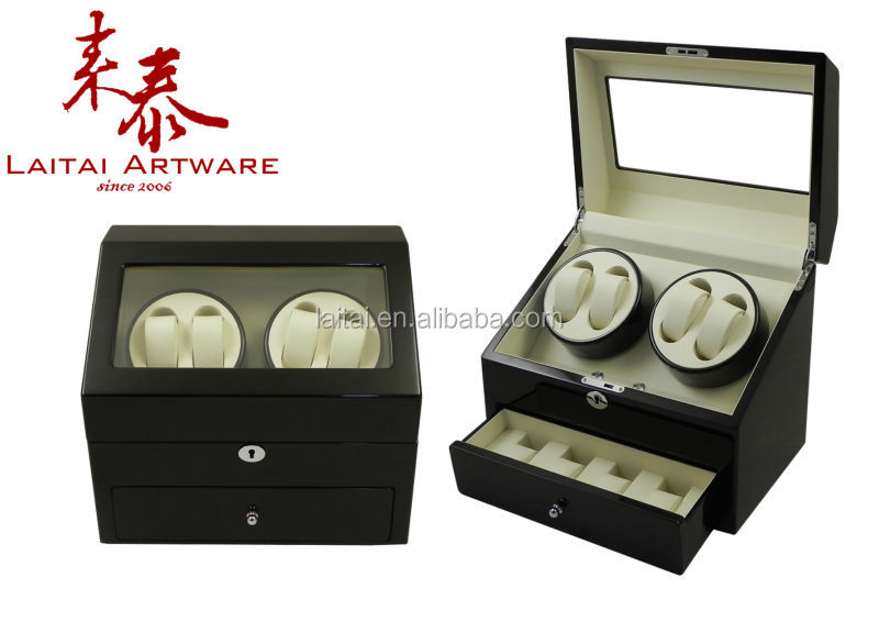 Exquisite china wooden perpetual motion watch winder storage box with drawer 6408e86d9