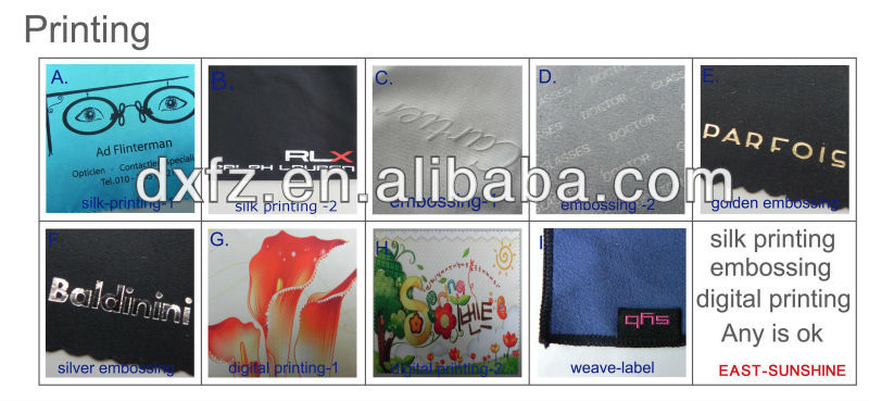 Flower print personalized digital printed microfiber material phone cleaning cloth