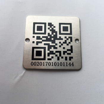 Custom logo products QR code stainless steel id tags