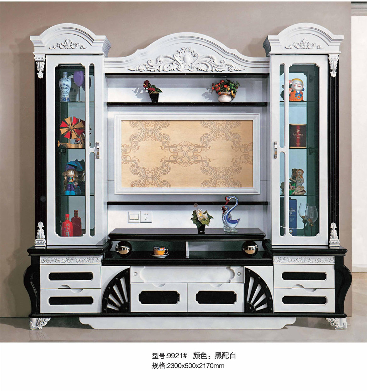 Salon Meubles Lcd Tv Unit S Murales Bois Nouveau Mod Le Tv Cabinet  # Nouveau Model De Table Televiseur En Bois