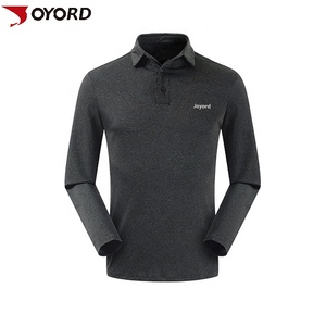 High quality dri fit long sleeve 100 cotton business polo shirt with customized embroidery logo for men