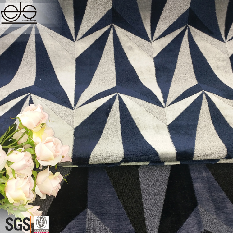 090a0620d5161 2018 Hitam Putih Geometris Beludru Jacquard Kain Etnis untuk Sofa / Sofa  Kain Sudut