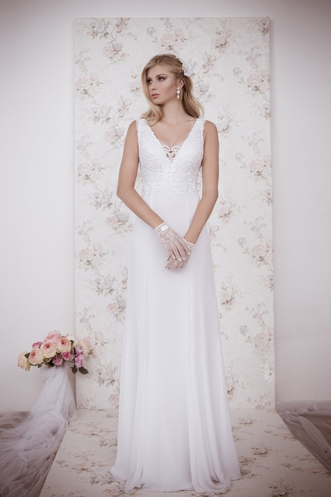Na-14 Greek Goddess Style See Through Back Bridal Gowns 2015 Plus ...