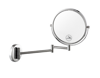Wall Mounted Shaving Mirror hot-selling wall mount magnifying mirror x3 for hotel room mr8016