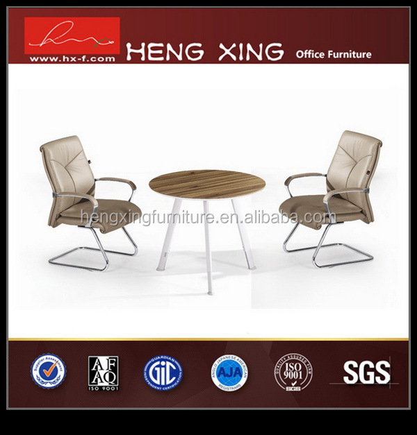 Antique glass curved meeting table luxury office furniture