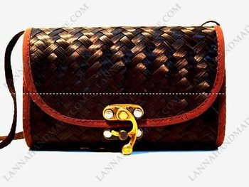Thailand Brown Wood Krajood Bag Handmade - Buy