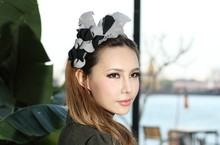New arrival wool felt hair fascinators wholesale hair accessories headpieces for wedding & party hair accessory