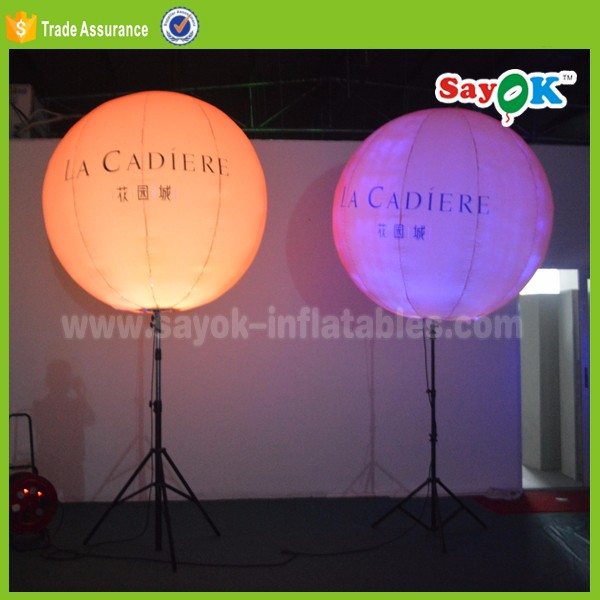 Led custom inflatable stand balloon advertising giant inflatable led balloon ball