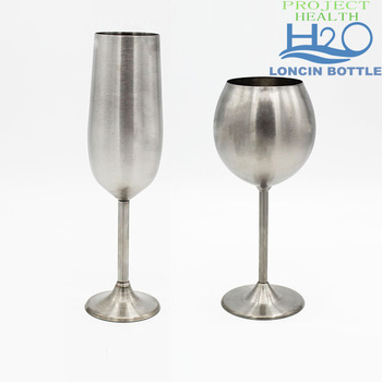 8oz Stainless Steel Goblet Champagne Wine Gl Metal Cup For Home