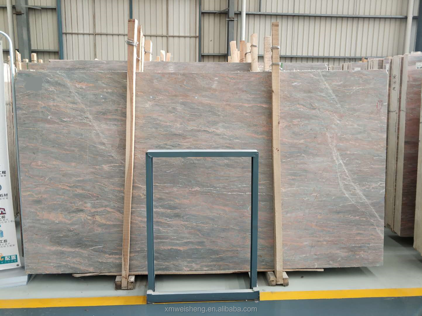 Low xiamen tundla grey gold marble slab for furniture countertops table floor