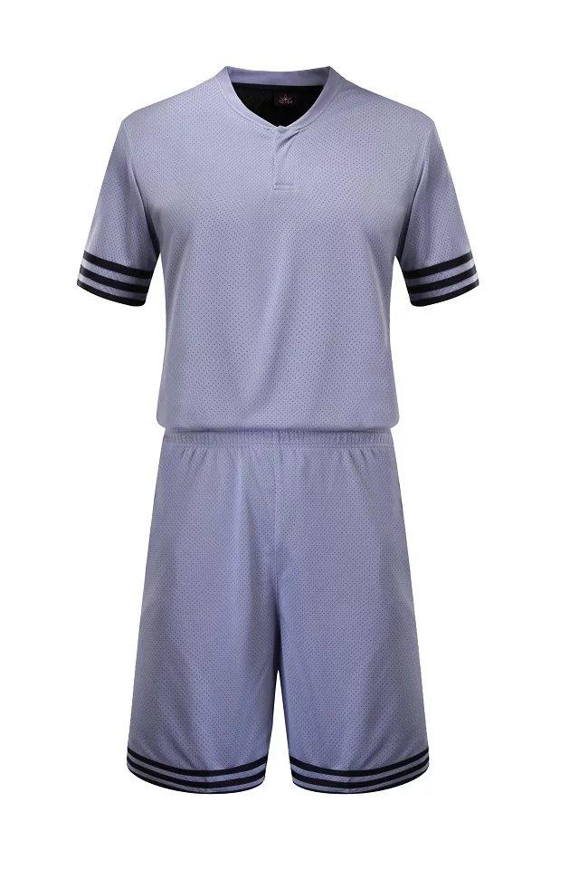 Wholesale Custom Sublimation Blank Short Sleeve Grey Basketball