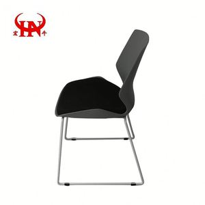 Cheap Modern Stacking Plastic With Metal Legs Plastic Chair /Simple Office Chair