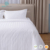 White hotel 3cm stripe bed linen hotel bed sheets and bedding set