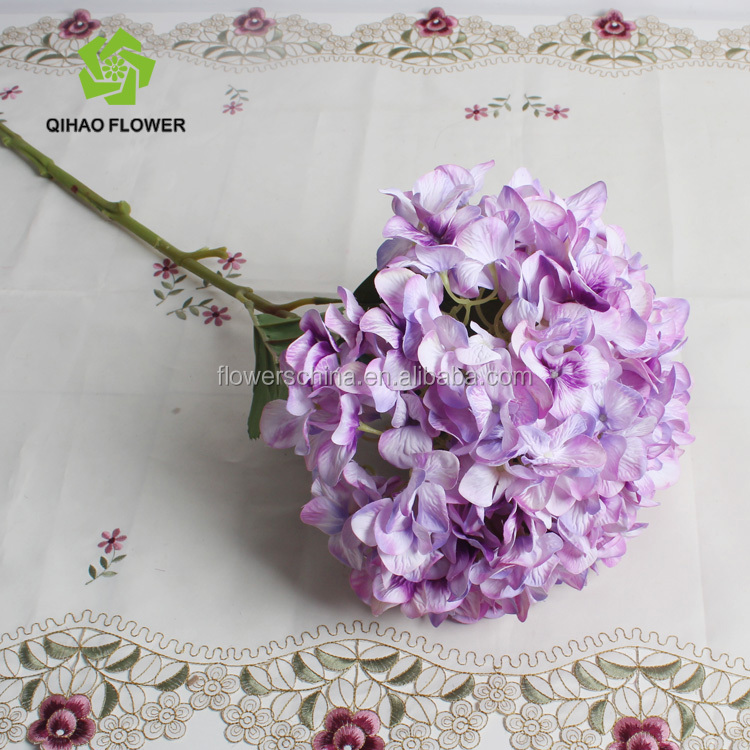 Coated Petal 3D printed artificial wedding decorative fake hydrangea flower