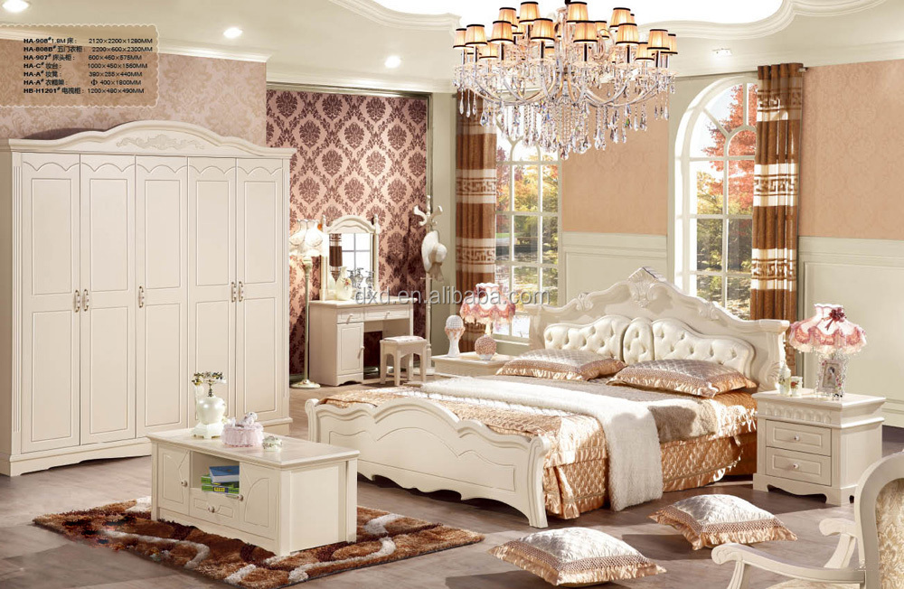 Hotel bedroom sets antique wooden white bed leather bed for What is a french bed in a hotel