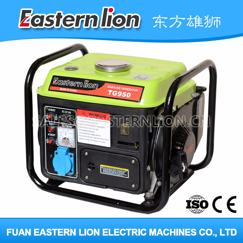 New lower price ac single phase 650w gasoline generator TG950