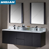 "60"" Double Sink Vanity Cabinet Wall Mounted MDF Vanity with Mirror Modern MDF Bathroom Vanity"