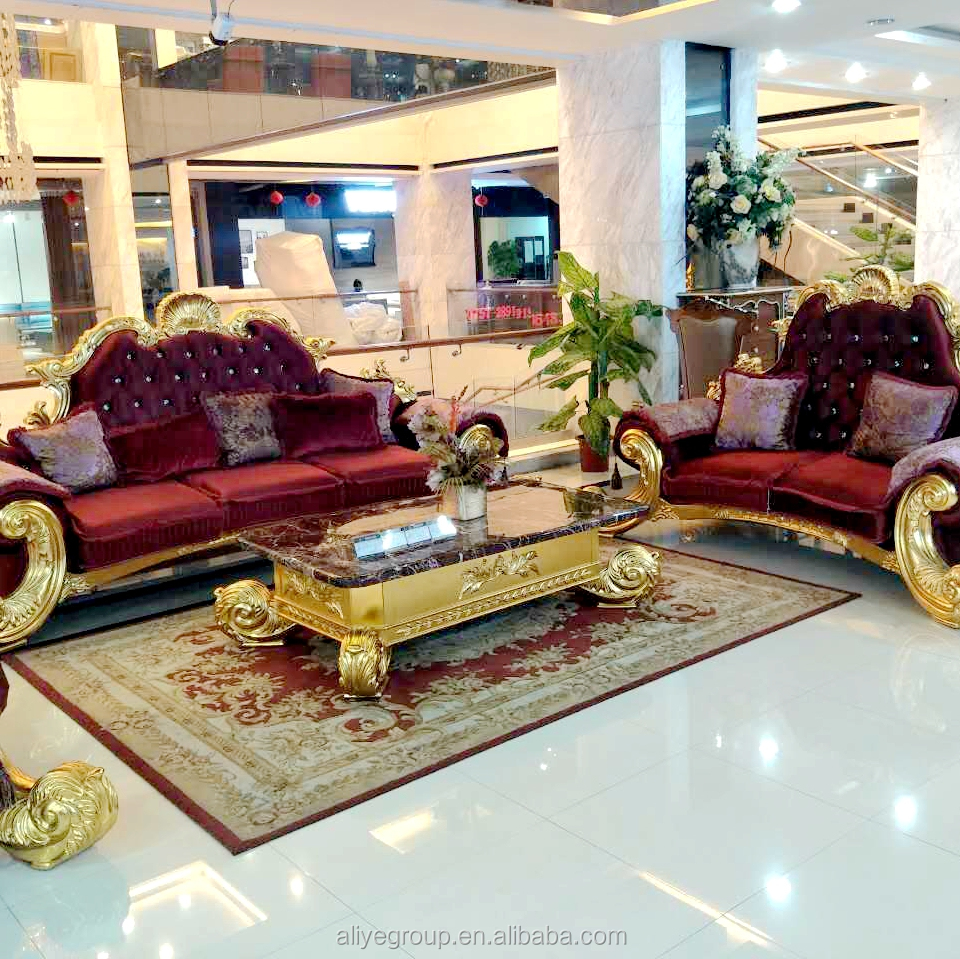 French style <strong>sofa</strong> living room furniture luxury antique <strong>sofa</strong> gold black
