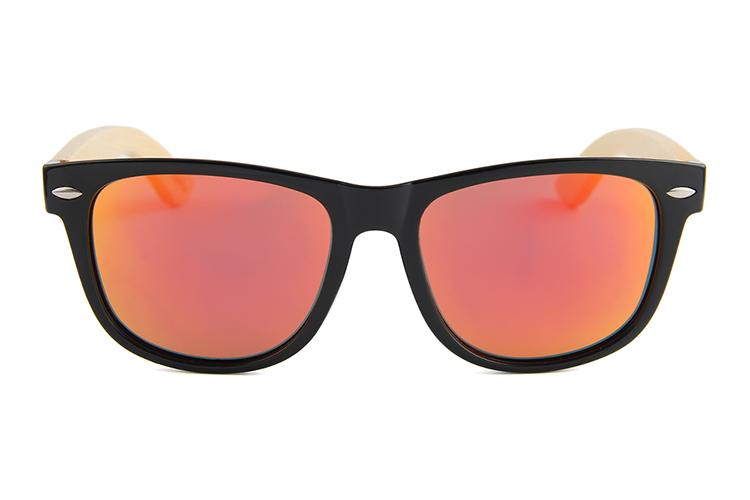 De Polarizadas Espejo Gafas Rojo Lente Sol Caliente Bambú Venta jLVpqUGzSM