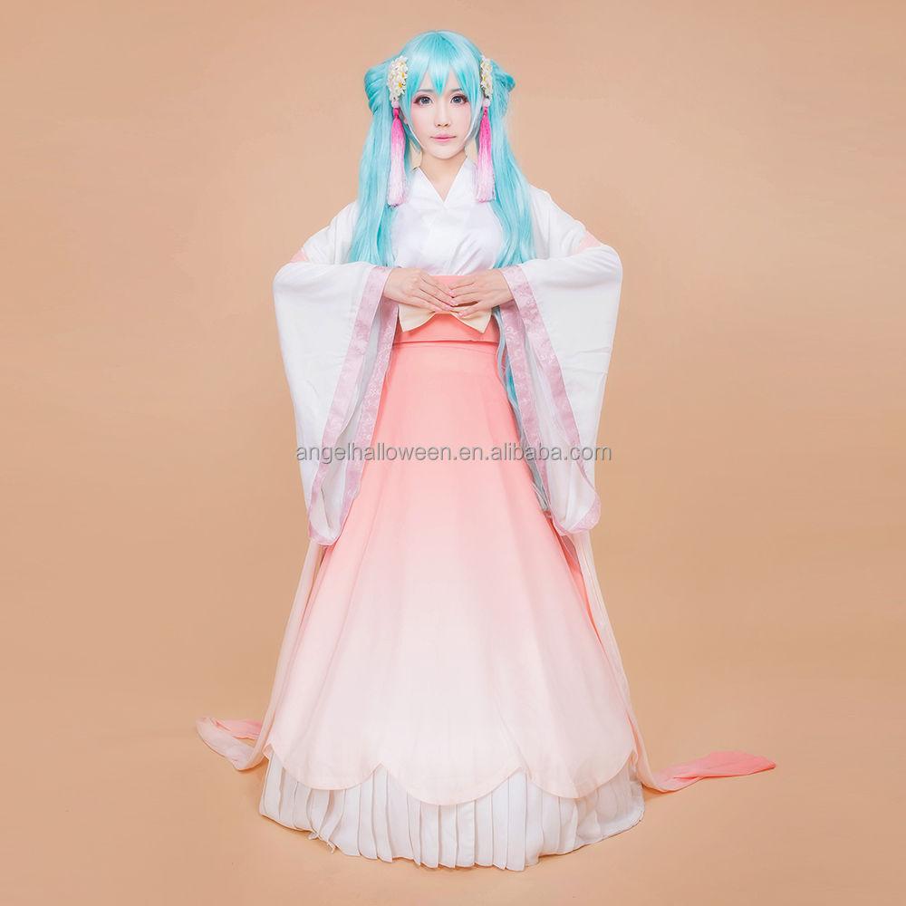 Pink Vocaloid Miku Cosplay Costume Custom