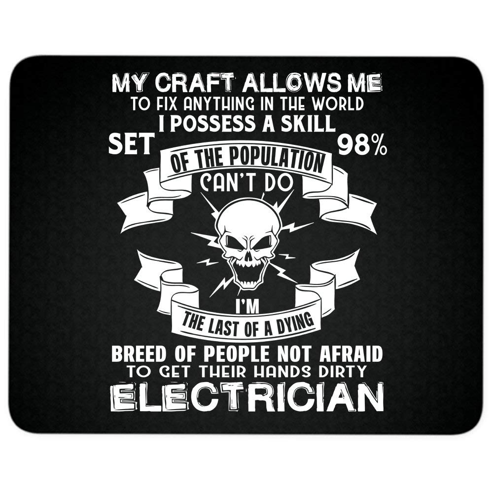 I'm An Awesome Electrician Mouse Pad, My Craft Allows Me great gift idea Mousepad