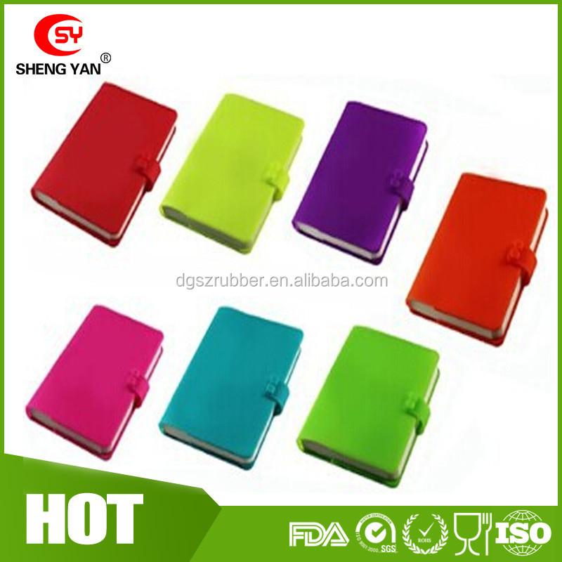 colorful silicone portable couverture avec taille a5 a6 cahier d