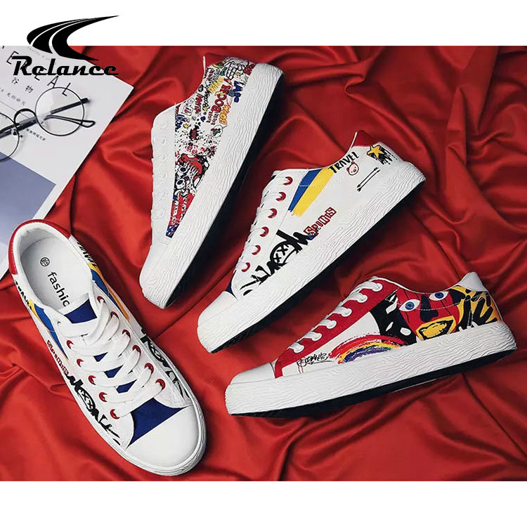 Sneakers Shoes Stylish Thick Low Upper Bottom Wholesale Mens MOQ Canvas Casual nA7q4zO