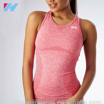 9a870cbaa4dd4 Womens seamless vest sports tank top slim fit nylon polyester seamless gym  singlet