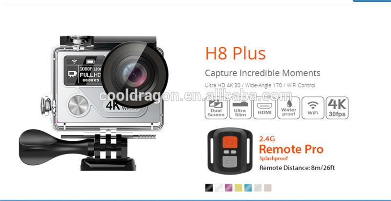 Multifunctional EKEN H8 plus Ambarella A12 action camera sport dv camera with great price
